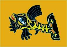 黑色鱼黄色 图库摄影