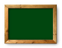 黑色黑板董事会复制绿色空间 免版税库存图片