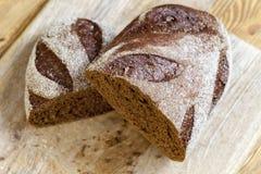 黑色黑麦面包 免版税图库摄影