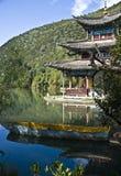 黑色龙lijiang池 免版税图库摄影