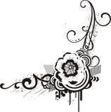 黑色&空白花卉设计 免版税库存图片
