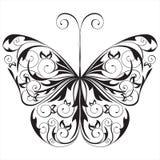 黑色蝴蝶白色 免版税图库摄影