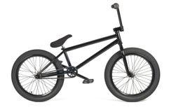 黑色bmx自行车 免版税库存照片