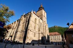 黑色brasov教会城市欧洲 免版税库存图片
