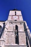 黑色brasov教会罗马尼亚塔 免版税库存照片