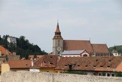 黑色brasov教会罗马尼亚 库存照片