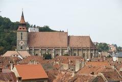 黑色brasov教会罗马尼亚 库存图片