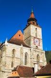 黑色brasov教会 库存图片