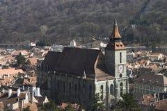 黑色brasov教会 免版税库存照片