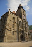 黑色brasov教会fron罗马尼亚 免版税库存照片