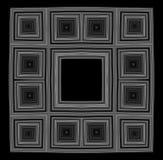 黑色bw框架 免版税库存照片