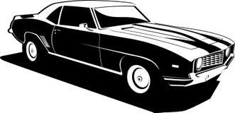 黑色camaro白色 库存图片