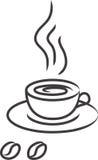 黑色cofe coffe咖啡杯向量 免版税库存图片