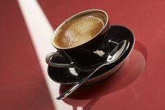 黑色coffe杯子 免版税图库摄影