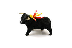黑色corrida黄牛玩具 库存照片
