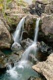 黑色cuillins苏格兰skye瀑布 库存照片