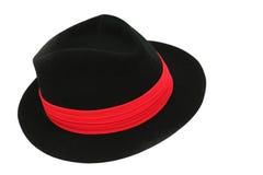 黑色federora帽子 图库摄影