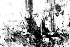 黑色grunge墨水纹理白色 库存图片