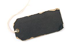 黑色grunge标签 库存图片