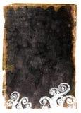 黑色grunge装饰纸张 库存例证