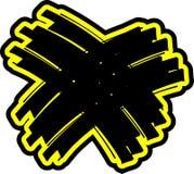黑色hs刮水器x黄色 库存例证