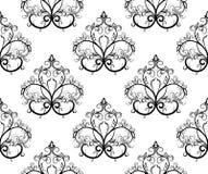 黑色illustrat模式无缝的向量白色 免版税库存照片
