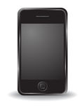 黑色iphone 免版税图库摄影