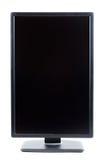 黑色IPS LCD监控程序以一个垂直格式。 免版税库存照片