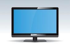 黑色lcd电视 库存例证