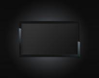 黑色LCD电视 库存图片