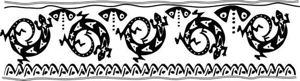 黑色lisard模式白色 免版税库存照片