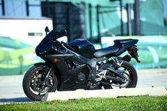 黑色Sportbike 库存图片