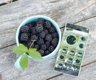黑莓和手机 免版税库存图片
