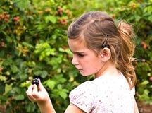 黑莓女孩 免版税库存照片