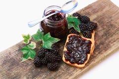 黑莓果酱 图库摄影