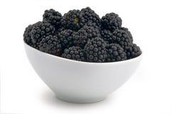 黑莓碗新白色 库存图片
