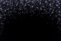 黑落的微粒,曲拱形式 向量 库存照片