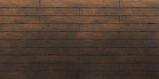 黑褐色老木板条纹理 免版税库存照片