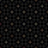 黑角规和金子担任主角在重复的几何样式 织品印刷品 无缝的背景,马赛克装饰品,种族样式 设计 免版税库存图片