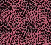 黑豹子皮肤有在桃红色背景 库存例证
