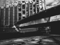 黑都市城市 库存图片