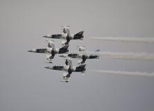黑金刚石喷气机小组 库存图片