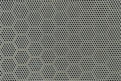 黑金属扩音器特写镜头表面在汽车的门的构造了背景 免版税库存照片