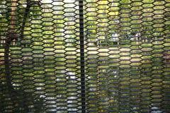 黑铁滤栅用于做篱芭 免版税图库摄影
