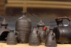 黑陶瓷-其中一个陶瓷的种类,烧由特别技术-在一个wood-burning火炉 免版税图库摄影