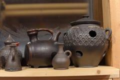 黑陶瓷-其中一个陶瓷的种类,烧由特别技术-在一个wood-burning火炉 图库摄影