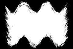 黑风景照片的波浪摄影边缘 皇族释放例证