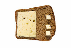 黑麦面包用干酪 免版税库存照片