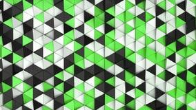 黑,白色和绿色三角棱镜的样式 皇族释放例证
