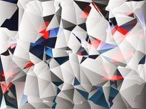 黑,白色,红色和蓝色几何抽象背景例证 免版税库存图片